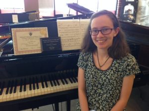 Delaney Bright, Music Composition Student of Dr. Chia-Hsing Lin, First Place Class III 2016 Junior Composers Contest LA Federation of Music Clubs